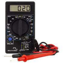 Multímetro Digital Com Cabo Multiteste Au325 Multilaser