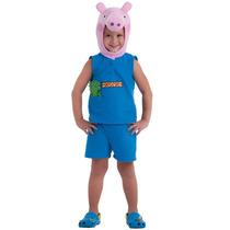 Fantasia Peppa Pig George Original C/gorro Baby E Infantil