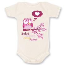 Body Bebê Evangélico Cristão Gospel Bebê Sabido Ama Jesus