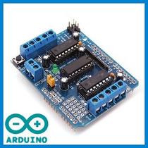 Motor Shield + Cod Exemplo Ponte H Arduino L293d Driver Dc