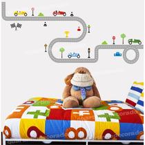 Adesivo Parede Infantil Decorativo Pista Carros Menino Bebe
