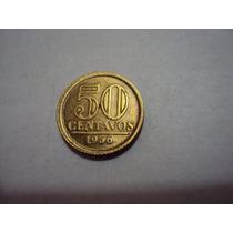 Moeda Brasileira Antiga - 50 Centavos 1956 Bronze (fc)