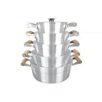 Conjunto Panelas Aluminio Batido Caçarolas Completa 5 Peças