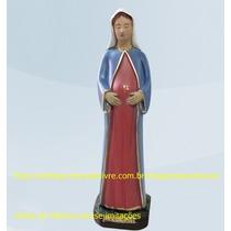 Escultura Nossa Senhora Gravida Do Menino Jesus Imagem 20cm