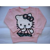 Blusa Moletom Hello Kitty Meia Estação Linda Frete Rápido