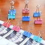 Prendedor Grampo Clips De Papel Em Metal Colorido 19mm 40un