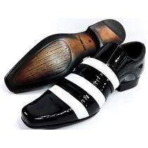 Sapato Social Couro Envernizado Lançamento Estilo Bom Gosto