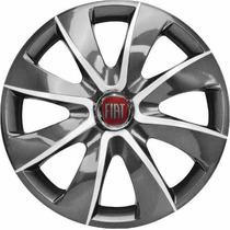 Calota Aro 13 Graphite Silver Fiat Palio Uno Siena