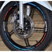 Friso Adesivo Refletivo Roda Tricolor Mod02 Moto Honda Titan