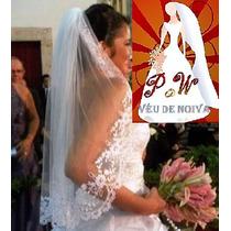 Véu De Noiva Bordado Francês