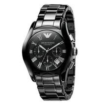 Relógio Emporio Armani Ar1400 Ceramica Preto, Garantia