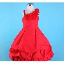 Vestido Infantil Festa/casamento/formatura Vermelho