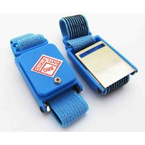 Pulseira Proteção Anti Estática Profissional Sem Fio - Azul