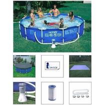 Piscina Intex 6503 L Estrutural Bomba Filtro 220v Capa Forro