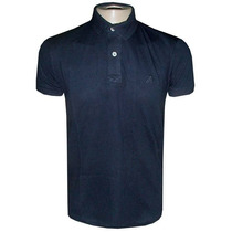 Camisa Ricardo Almeida Gola Polo Camiseta Preta