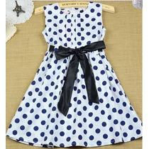 Pronta Entrega Vestido Infantil Importado De Bolinhas