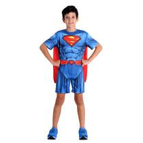 Fantasia Super Homem Pop Superman Dc Comics Tam P-3 - 4 Anos