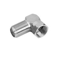 Adaptador Coaxial Plug F Fêmeax Plug Fmacho Rosca 90º Sd1516