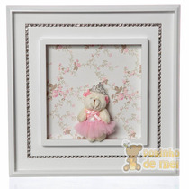 Quadrinho/ Porta Maternidade Nome Bebê Princesa Mini Strass