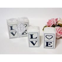5 Lembrancinhas De Casamento Love Saleiro E Pimenteiro