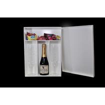 Caixa Para 2 Taças E 1 Vinho (mini) Decorad - Madeira - Mdf