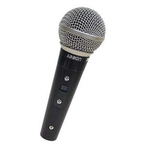 Microfone Dinâmico Profissional Leson Sm58 Plus Com Fio