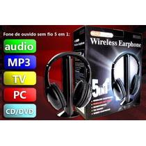 Fone Wireless Escute Fm,tv, Jogos, Sem Fio. Preço Em Oferta