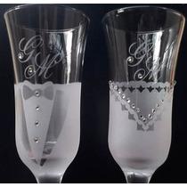 Taças Personalizadas Decoradas + Brinde Casamento