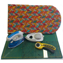 Kit Patchwork C/ Base De Corte,régua,cortador,ferro,tábua #2