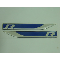 Emblema R-line Apr Golf Jetta Passat Fusca Tiguan Azul