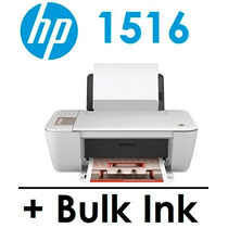 Multifuncional Hp 1516 C/ Bulk Ink + 400 Ml De Tinta + Snap