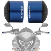 Peso Guidao Moto Universal Racing Curto Azul Evolution