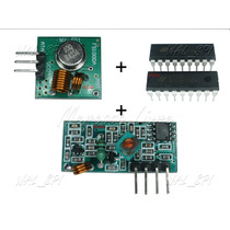 Transmissor E Receptor De Rf 433mhz + Ht12e + Ht12d - (011b)
