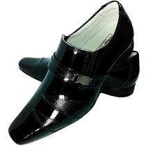 Social Masculino Sapato Couro Legitimo Envernizado Frete Gra