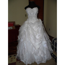 Vestido Noiva Bordado Seda Corpete Casamento