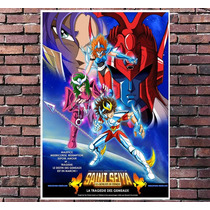 Poster Exclusivo Cavaleiros Zodiaco Seiya Anime Retro 30x42