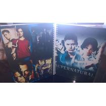 Caderno Supernatural 1 Materias Com Adesivos