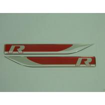 Emblema R-line Apr Golf Jetta Passat Fusca Tiguan Vermelho