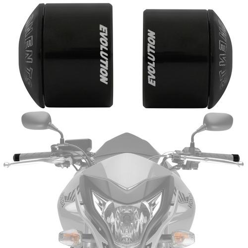 Peso Guidao Moto Universal Curto Racing Evolution Preto