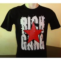 Camisas Rap Hiphop Drake Rich Gang Frete Grátis 100% Algodão
