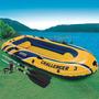 Barco Bote Inflável Intex Chalenger 3 Pessoas Remos Bomba