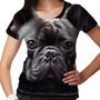 Camiseta Cachorro Bulldog Francês Feminina
