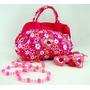 Kit Infantil Bolsa Prendedor Cabelo Colar - Bs002
