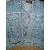 Jaqueta Jeans Tradicional Desbotada Excelente Estado