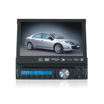 Dvd Automotivo Tela 7 Roadstar Retrátil Tv Saída Câmara Ré
