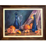 Natureza Morta Mexericas Pintura À Óleo - Obra De 42 X 60 Cm