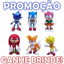 Bonecos Sonic Miniaturas Sonic 6 Peças! Sonictails Knuckles