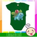 Body Ivysaur Pokemon Bebê Infantil Divertido Engraçado Nenem