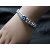 Linda Pulseira Bracelete Delicada Olho Grego Amigo Secreto