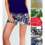 Shorts Jeans Com Lycra Color Feminino Animal Print Floral
